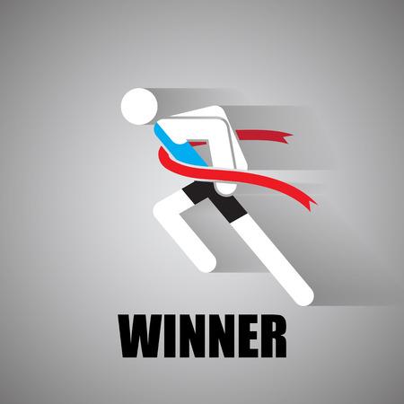 finish line icon Vector