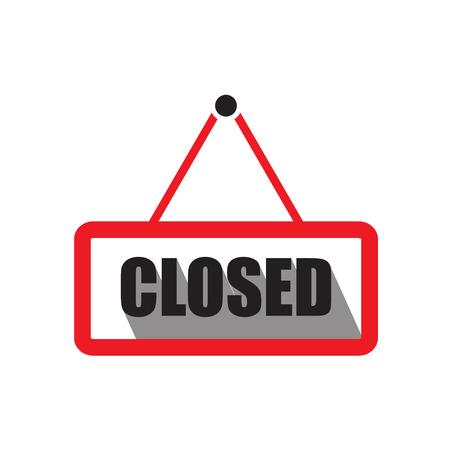 apologize: Closed sign board icon