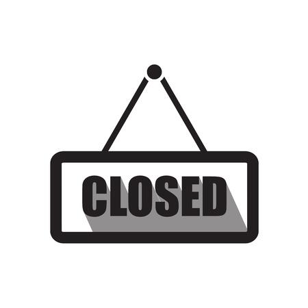 closed sign: Closed sign board icon