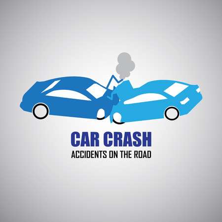 road accident: car crash and accidents icons Illustration