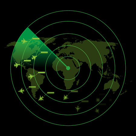 controlling: Air Traffic Control Radar Illustration