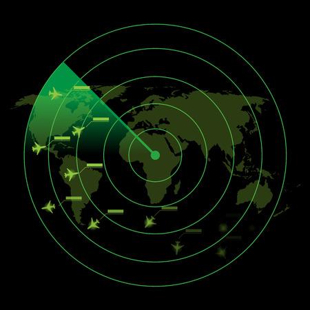 Air Traffic Control Radar Vectores