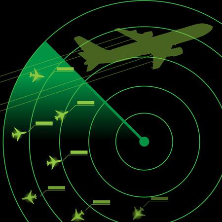 Air Traffic Control Radar Illustration
