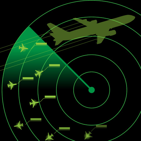 Air Traffic Control Radar Illustration