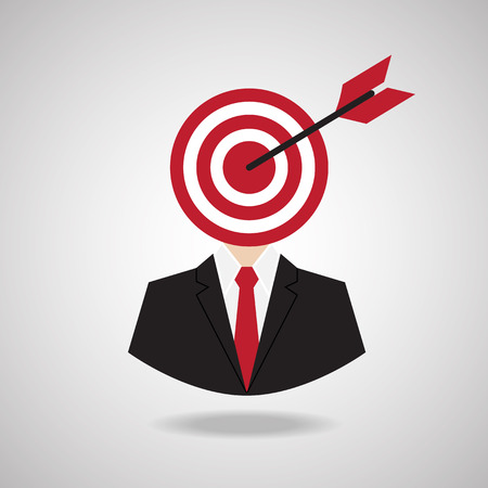 targets: Targets business man,vector