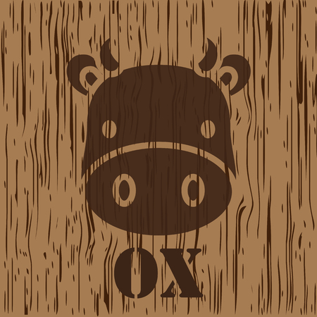 ox and cow sign Vector