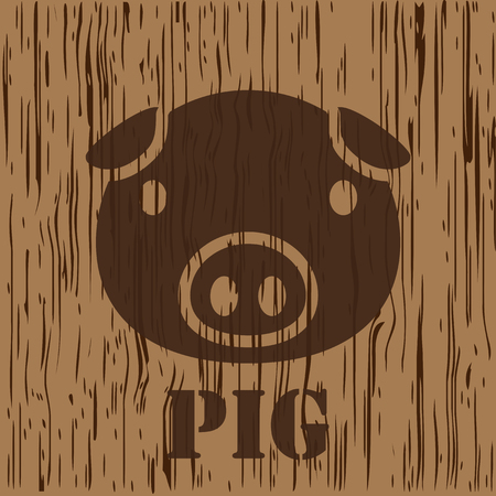 pig, pork icon and symbol Illustration