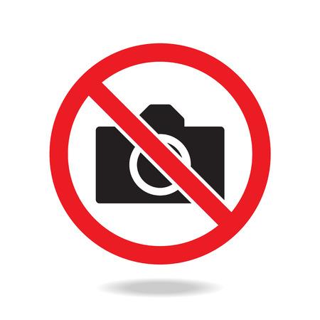 no photo, camera sign and symbol Vector