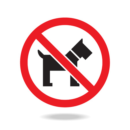 illegal zone: No dog sign and symbol Illustration