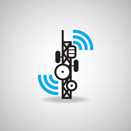 airwaves: Antenna Satellite dish and technology icon