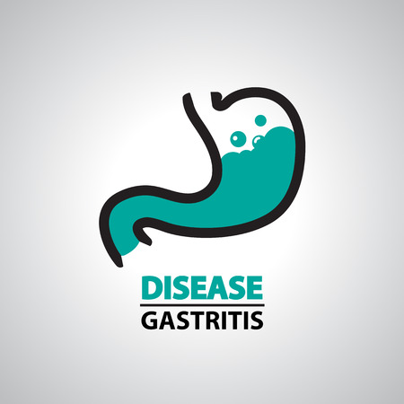 gastritis icon and symbol Illustration