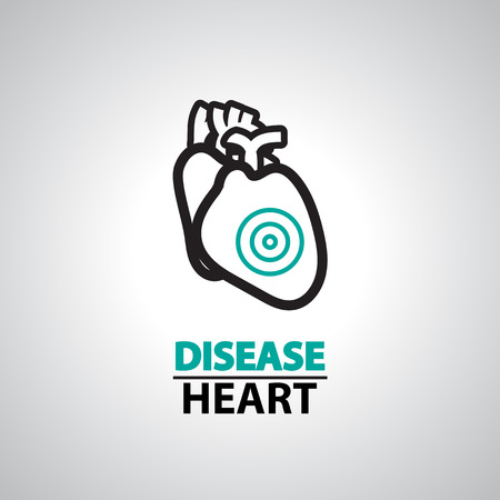 heart disease: icono de la insuficiencia cardiaca y el símbolo
