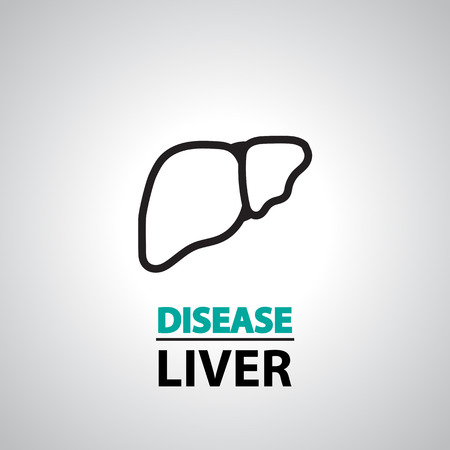 liver cirrhosis: liver icon and symbol