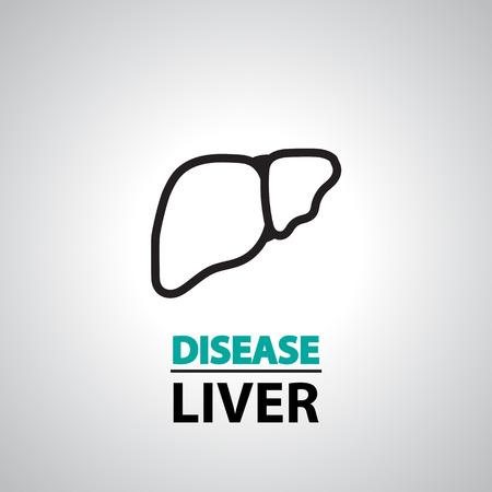 liver failure: liver icon and symbol