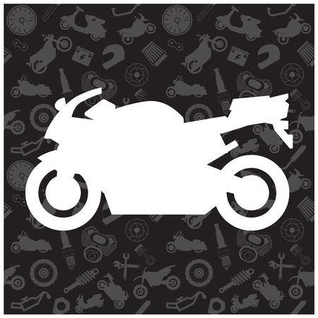 data transmission: Motorcycle, background pattern and icon