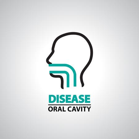 orale icône de la cavité et le symbole Vecteurs