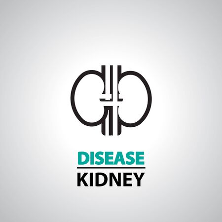 pyelonephritis: kidney icon and symbol