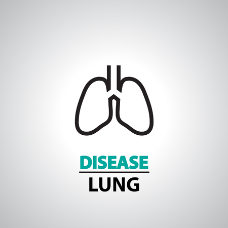 breathe: Lung icon and symbol