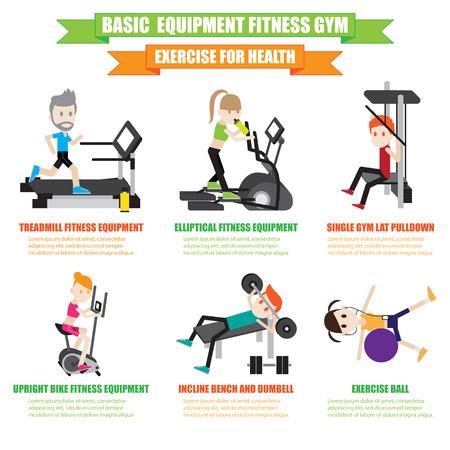 Fitness Equipment vector set Vector