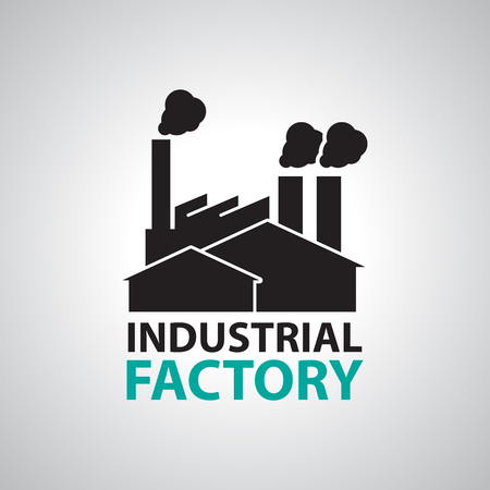 Industrial building factory Signs and Symbols Stock Illustratie