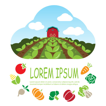 farm background Illustration