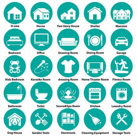 kitchen shower: home, room icon and symbol
