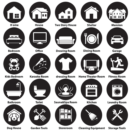 house pet: home, room icon and symbol