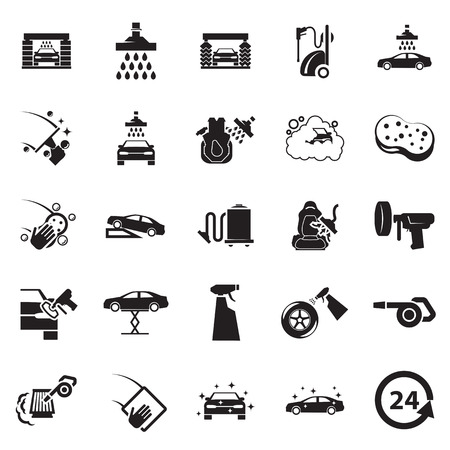 automotive repair: Car wash icon Illustration