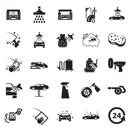 rondelle: Lavage de voitures ic�ne Illustration