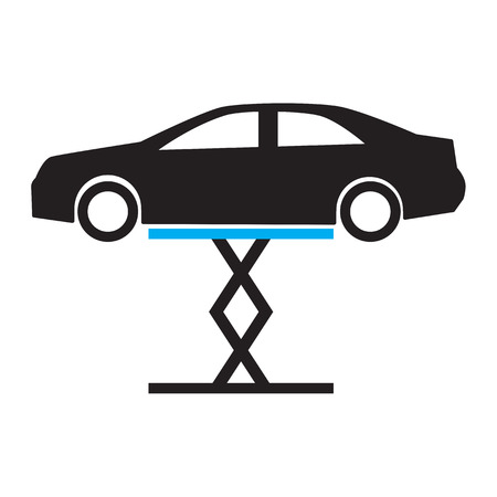 air filter: Car wash icon Illustration