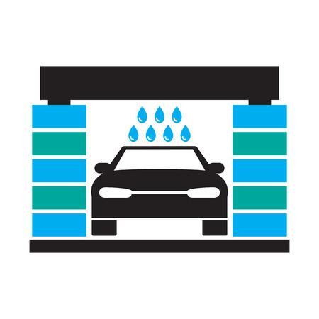 wash: Car wash icon Illustration