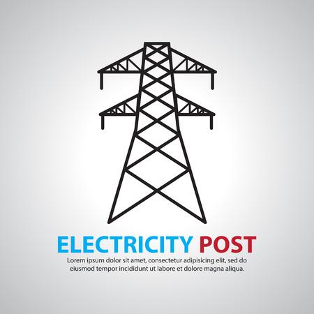 gitter: elektrische Post, Hochspannungs-Set Illustration