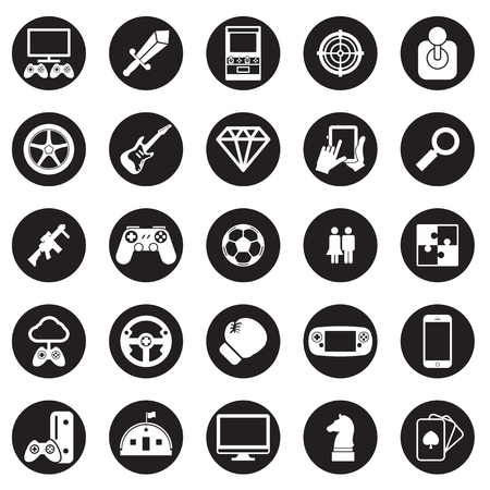 game pad: game icon vector set