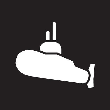under surveillance: Military submarine symbols and icon