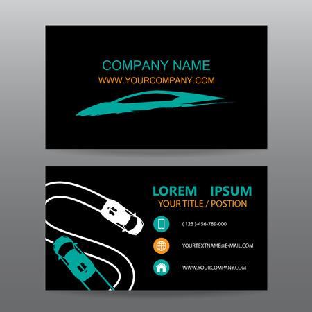 car business: Business card vector background,car salesman Illustration