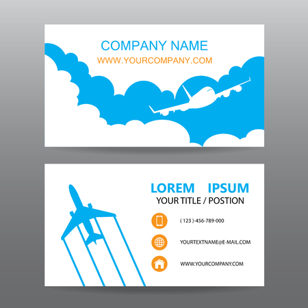 guide: Business card vector background, guide tour companies Illustration