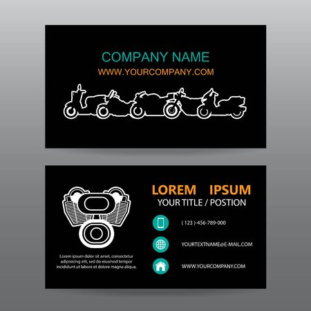 showrooms: Business card vector background,Motorcycle  showrooms