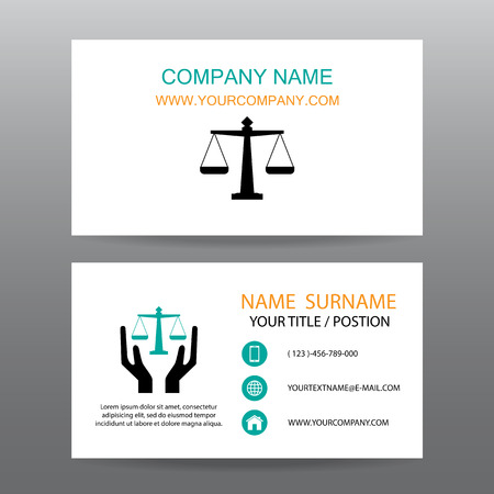jurists: Business card vector background,Insurance law and Lawyer