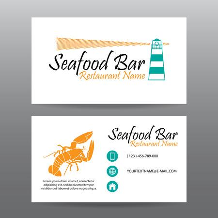 fond restaurant: Carte de visite vecteur de fond, le personnel restaurant Illustration