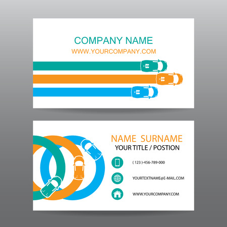 sales executive: Business card vector background,car salesman Illustration