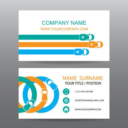 Business card vector background,car salesman Illustration