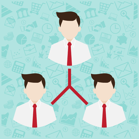 direct sale: Network Marketing symbol illustration