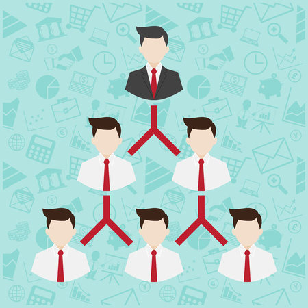 network marketing: Network Marketing symbol illustration