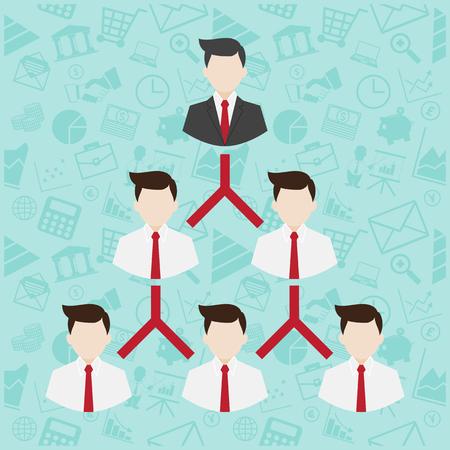 Red símbolo de Marketing ilustración