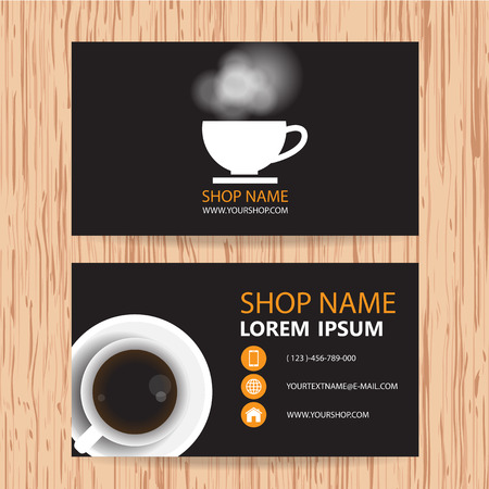 mocca: Business card vector background, Coffee shop