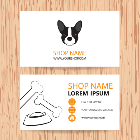 animal feed: Business card vector background, Veterinary,shop animal feed