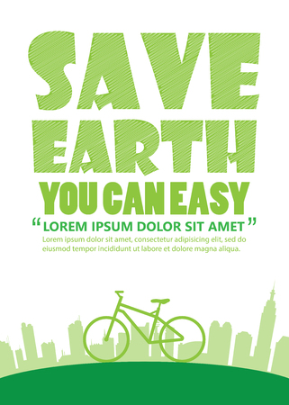 a4: Bicycle Earth Day,Print A4 size