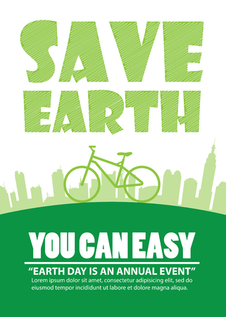 safe world: Bicycle Earth Day,Print A4 size