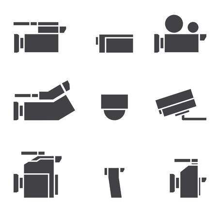 vdo: vdo camera icon set Illustration
