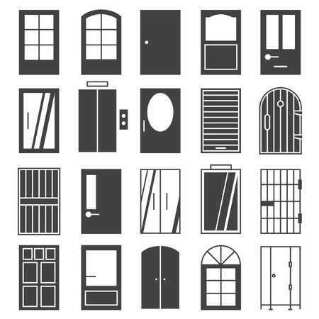 toilet door: door  icon Set